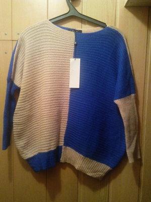 сине -пудровый мохеровый свитер мохер смешанный синий пудра свитер свободный бежевый