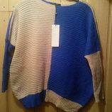 сине -пудровый синий пудра свитер свободный бежевый реглан
