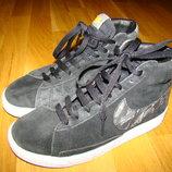 Замшевые ботинки сникерсы кроссовки Nike Blazer оригинал р. 1,5 на 33-34