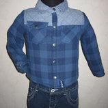 На 1,5-2 года Рубашка на синтепоне F&F мальчику