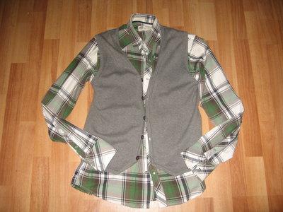Стильная рубашка-клетка,размер С.возможно на подростка