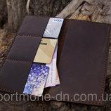 Кошелек кожаный ручная работа, портмоне Vintage