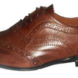 Коричневые туфли оксфорды