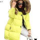 женская куртка Хит зимняя термо пух дутая
