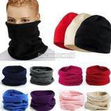 Бафф флисовый, зимний, теплый, шарф хомут,снуд, шарф труба, шапка