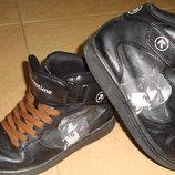 Кожаные скейтера, ботинки, высокие кроссовки, 36 размер.