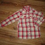 Стильная рубашка TU на мальчика 7 лет, сделана в Индии, хлопок