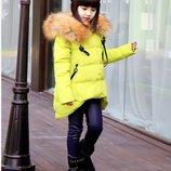 куртка детская Хит -пух натур зимняя на девочку пуховик