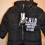 Теплая куртка парка - для мальчиков и девочек
