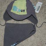 новый Комплект шапка и шарф треугольник мальчику