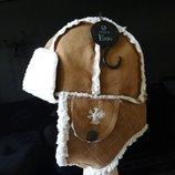Новая с этикеткой шапка - ушанка Next 11-13 лет