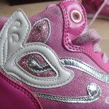 Кроссовки сникерсы 18,8 см кеды розовые мигают оригинал Италия GEOX Джеокс