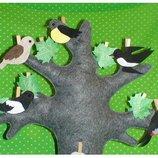 Развивающая игра птицы .ручная работа.