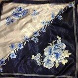 большой платок сине белый шикарный