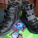 Ботинки для мальчика зимние, черные, новые р. 32,33,34,35,36