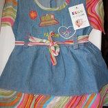 Новое джинсовое платье 8-18мес Турция