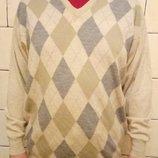 Джемпер свитер пуловер мужской тонкая шерсть 50-52 размер