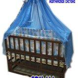 Акция Лучшая кроватка маятник Малыш темная матрас кокос постельный набор 8 эл. качество