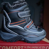 Ботинки для мальчика и девочки зимние, черные, новые р. 28, 29, 30, 31