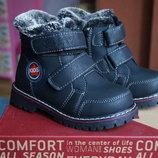 Ботинки для мальчика зимние,новые, натур. шерсть р. 26,27,28,29,30