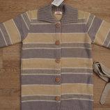 Стильная удлиненная кофта кардиган маленькой моднице в наличии от 98 до 122