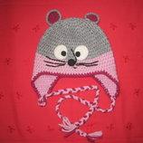Тёплая шапка девочкам НОВАЯ