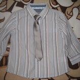 Комплект Next джинсы и рубашка с галстуком