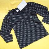Фирменный новый реглан свитер в горошек,до 6 лет