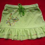 Салатовая юбка на девочку до 5лет Новая