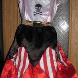 Карнавальное платье два в одном пиратка , принцесса .