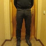 Толстые кожаные джинсы темно-коричневого цвета. Турция.32./32.