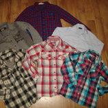 Рубашки с длинным рукавом на 6-7 лет