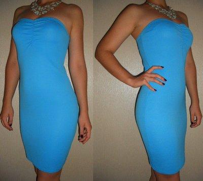 6686bf313e0f266 Платье голубое бандажное НОВОЕ 10 38 р.: 200 грн - вечерние платья в ...