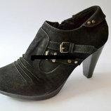 Шикарные черные ботильоны ,ботиночки