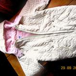 Курточка - термо, Chicco ,нежно-кремового цвета ,рост 122 см,для девочки