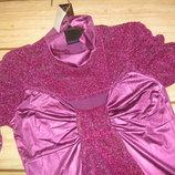 Гламурное вечернее платье-туника необычного кроя Масло, дайвинг S-M 44-46 Новое