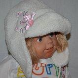 Теплая шапка ушанка для девочки теплая фирменная
