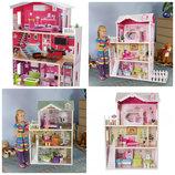 Детский деревянный кукольный домик