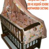 Акция Всё для сна Кроватка Люкс постель 8 эл матрас кокос. New