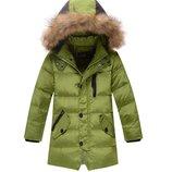 пуховик на мальчика Хит зимняя куртка для мальчика термо теплая