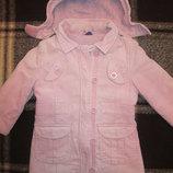 Утепленное вельветовое пальто для девочки, размер 104, Липилу, Германия