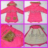 Детская зимняя куртка утепленная евро зима куртка для девочек 8-12 лет