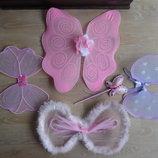 карнавальные костюмы крылья бабочки розовые фиолетовые феи палочка волшебная