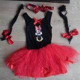 карнавльные костюмы минни маус утренник косички хелоуин платье сетка пышное пачка