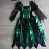 карнавальний 9 и 5-6 костюм принцесса платье паучиха вiдьмочка чародейка новый год праздник хелоуин.