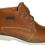 Зимние мужские ботинки кожаные