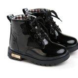 Ботинки лаковые супермодные зима 30р
