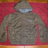 Ветровка и теплая деми куртка на флисе 122 -140