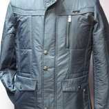 Куртка демисезонная мужская серая притал. воротник стойка размер 46