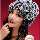 шапка женская -мех кролика ХИТ теплая зимняя